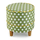 ZHIRONG Solid Wood Stool Fashion Ideas Sofa Stool Coffee Table Stool Low Stool (Color : A, Shape : Circular)