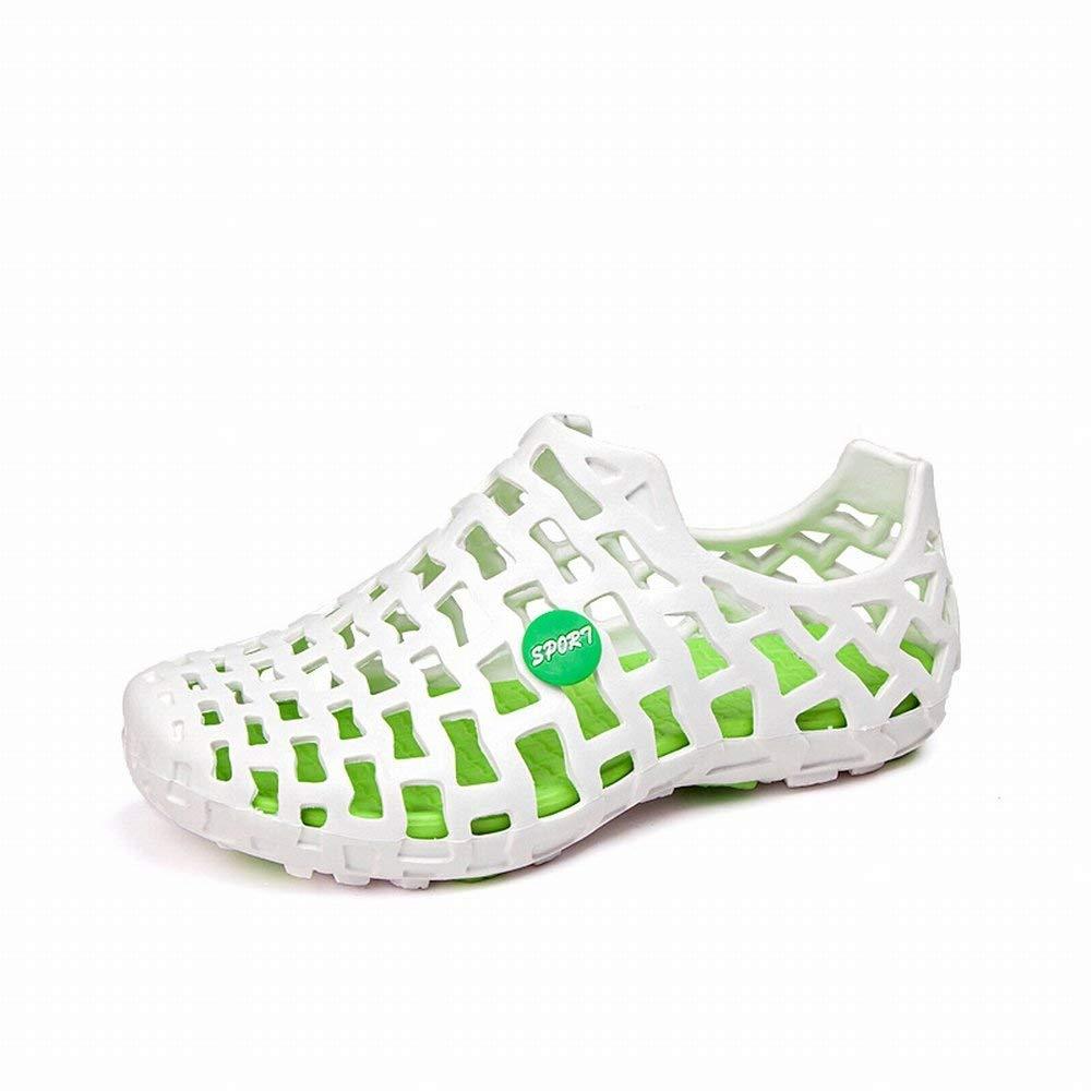 Fuxitoggo Hält Einfache Schuhe Der Einfachen Schuhe des Paarhöhlenstrandes Beiläufige Schuhe (Farbe   Weiß Grün Sortiert Größe   42)