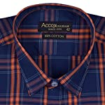 ACCOX Half Sleeves Formal Regular Fit Cotton...