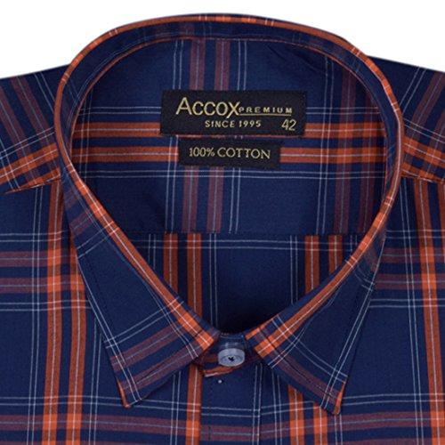 51HG9Uu2atL. SS500  - ACCOX Half Sleeves Formal Regular Fit Cotton Check Shirt for Men