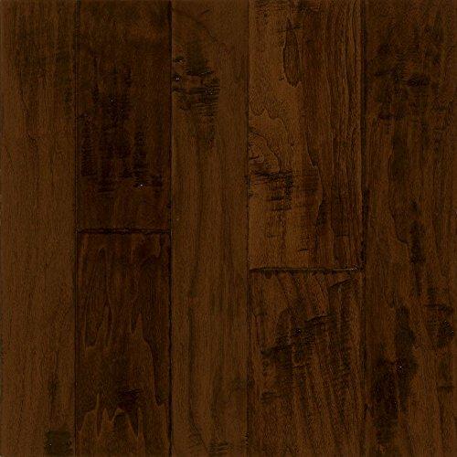 Wood Flooring Handscraped - Armstrong Flooring EMW6322 Hand-Scraped Hardwood, Black Chocolate