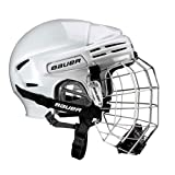 Bauer 7500 Combo Hockey Helmet with Cage 2010 Medium - White
