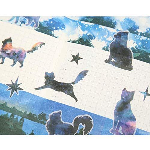 Cartoline Hacoly 6 Fogli Piccolo Gattino Scrapbook Stickers diario della Carta della Decorazione Planner Sticker Diario Decorazione per DIY Appunti di Viaggio