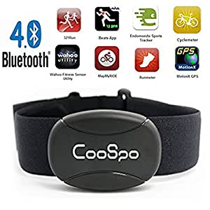 BOTER Heart Rate Monitor Sensor Chest Strap Fitness Activity Tracker Bluetooth Sports Watch Smartphone iPhone Garmin Polar App Compatible for Running Bike Cycling Waterproof for Men and Women.