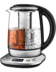Electric Kettle, Willsence Electric Tea Kettle Stainless Steel Glass Boiler Hot Water Tea Heater with Temperature Control LCD Display, Removable Tea Infuser, 1.7 L, 1200W