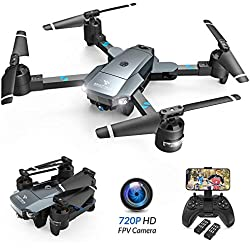 SNAPTAIN A15 Foldable FPV WiFi Dronew/Voice Control/120°Wide-Angle 720P HD Camera