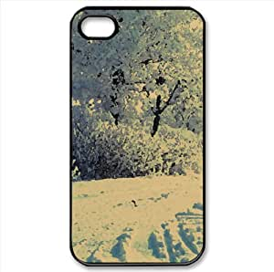 Winter Landscape Watercolor style Cover iPhone 4 and 4S Case (Winter Watercolor style Cover iPhone 4 and 4S Case)