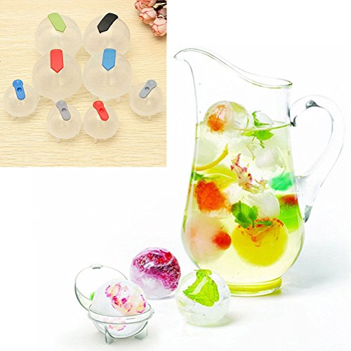 Dasanito3089 Ice Cube Molds Round 4PCS/Set Tray Round Maker Mold Plastic Ice Cube Ball Brick Maker Bar Cafe DIY Cooling Tools