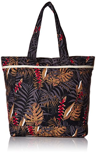 Roxy All Along Tote Beach Bag, Anthracite Jungly Flowers