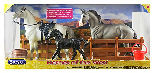 Breyer Classics Heroes of The West Toy Horse Set (1: 12 Scale), 16.75