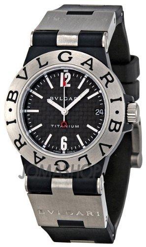 Bvlgari Diagono Black Carbon Fiber Dial Ladies Watch TI32BTAVTD-SLN