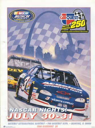Carquest Auto Parts 250 Program  Gateway International Raceway  July 30 31  1999
