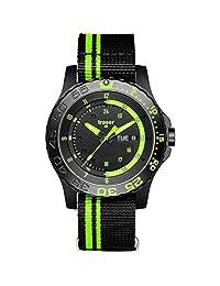traser H3 Green Spirit Sapphire Watch | Textile Watch Band - Black/Green