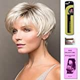 Ivy by Noriko, Wig Galaxy Hair Loss Booklet, Wig Cap & Magic Wig Styling Comb/Metal Pick Combo (Bundle - 3 Items) (CHOC FROST R)
