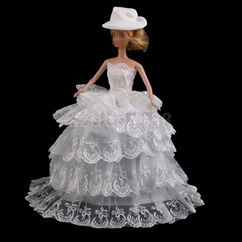 Princess Evening Wedding Party Dress Gown Outfit Clothes Hat by uptogethertek