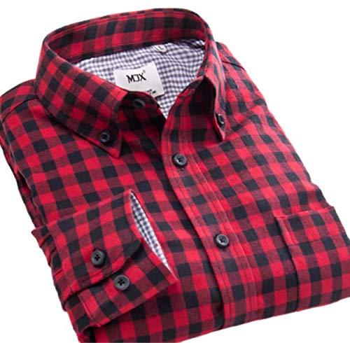 壁紙見積り高度(willmatch) 長袖 チェック シャツ ネルシャツ メンズ m8