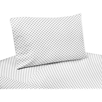 Amazon grey and white polka dot queen sheet set for watercolor grey and white polka dot twin sheet set for watercolor floral collection by sweet jojo designs thecheapjerseys Images
