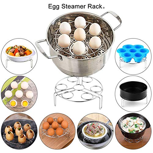 Accessories Set Compatible Instant Pot-Fits 6,8Qt Instant Pot Pressure Cooker,4-Pcs with Steamer Basket,Egg Steamer Rack,Silicone Egg Bites Mold,Non-stick Springform Pan,Best Gift Idea by Okelily (Image #5)