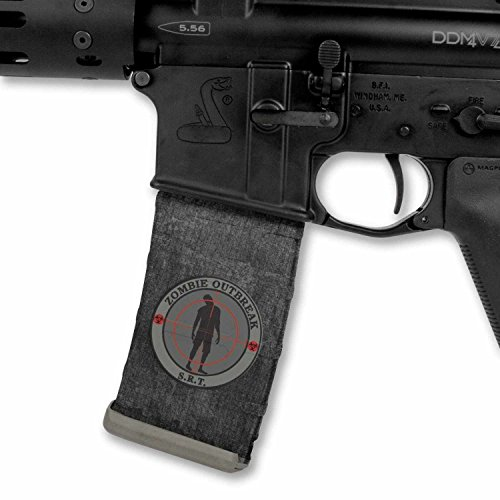 Ultimate Arms Gear Mag Wraps Zombie Outbreak S.R.T. SRT Special Response Team AR15/M4/M16 .223 5.56 30rd Mag Waterproof Durable Skin Kit - USA MADE
