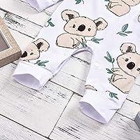 Infant Baby Boy Girl Clothes Cartoon Koala Bear Print Romper Jumpsuit Bodysuits Outfits Onesies Autumn