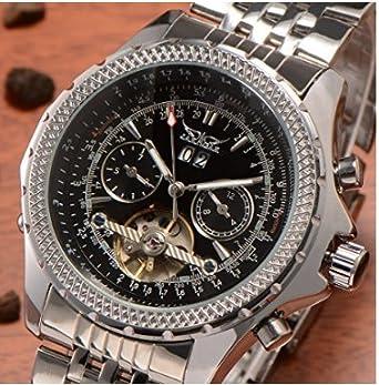 Geschenk Mechanische Armband Schwarz Datum Etui Xl Automatik Herren Edelstahl Luxus Automatikuhr nOk0w8P