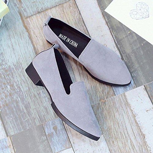 Runertop Klassieke Dames Dames Slip Op Platte Sandalen Casual Comfortabele Schoenen Solide Mode Loafer Grijs