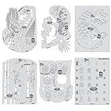 Artool Freehand Airbrush Templates, Kanji Master Mini Series
