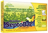 DrainOut C-SB06N SeptoBac Septic Tank Treatment-8 Pack-Environmentally Friendly Formula-Eight Convenient Pre-Measured Pouches