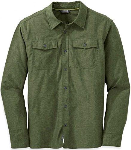 Outdoor Research Men's Gastown L/S Shirt, Kale, - Fashion Hut Vancouver