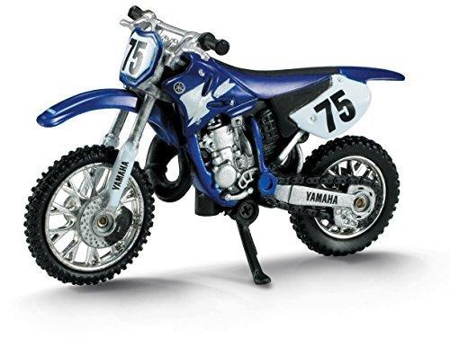 Die-Cast Blue Yamaha YZ 125 Dirt Bike, 1:32 Scale