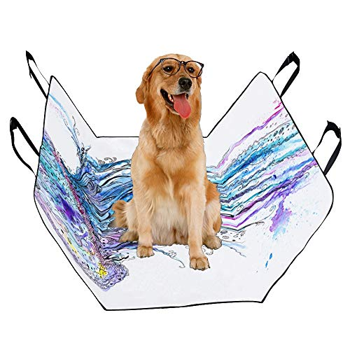 VNASKL Dog Seat Cover Custom Jelly Fish Ink Painting Creative Printing Car Seat Covers for Dogs 100% Waterproof Nonslip Durable Soft Pet Car Seat Dog Car Hammock for Cars Trucks SUV