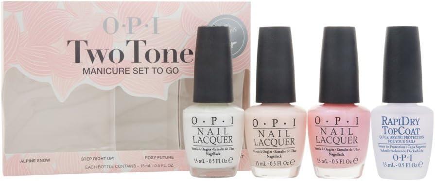 OPI Laca De Uñas, Set de manicura en dos tonos IR 15 ml – pack de ...