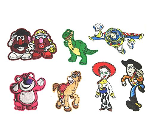 Cartoon 7 Piece Assortment Disney Toy Story Theme DIY Embroidered Easy Iron or Sew-on Applique Patch Application by SuperHeroes Brand (Diy Wonder Woman Costume Accessories)