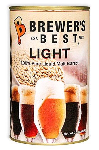 Brewer's Best Liquid Malt Extract - Light - 3.3 lbs. (Extract Light Liquid Malt)