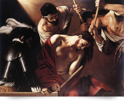 Caravaggio The Crowning With Thorns (Giclee Art Print), Leo KL