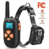 Zolixy Dog Shock Collar,Dog Training Collar,Shock Collar for Dogs,Electric Shock Collar Upgraded Version 2000ft remote for Small/Medium/Large Pets 100% Waterproof-NO Problem When Swimming