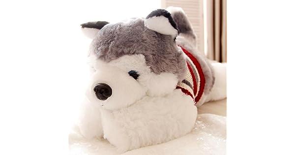 Amazon.com: 1pcs Tamaño 40 cm gris suéter Husky perro de ...