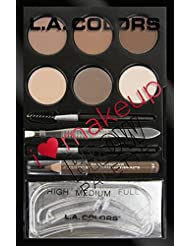 L.A. Colors I Heart Makeup Brow Palette, Light to Medium...