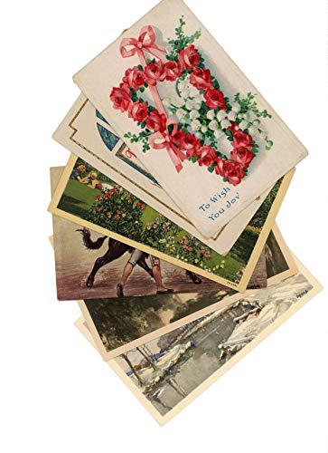 Vintage & Antique Postcards, Original, 60-120 Years Old, Postal Used, for Scrap-Booking, Good Condition - Postcard Postcards Antique