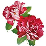 "Extra large size red peony flower temporary tattoos 8.66""x8.07"" Inches"