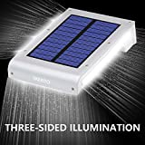 LiaoYuan Solar Lights Outdoor Brightest 49 LED Security Motion Sensor Wireless Waterproof for Yard 3 Modes Off/Bright/Dim 2200mAh Battery (2 Pack)