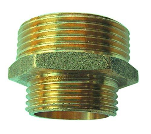 Sirocco Messing Doppelnippel reduziert AG 0,5 Zoll auf 0,75 Zoll, 05421432
