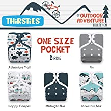 Thirsties Package Pocket Diaper Snap Outdoor Adventure Collection-One Size, Adventure Trail