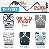 Thirsties Package, One Size Pocket Diaper Snap, Outdoor Adventure Collection Adventure Trail