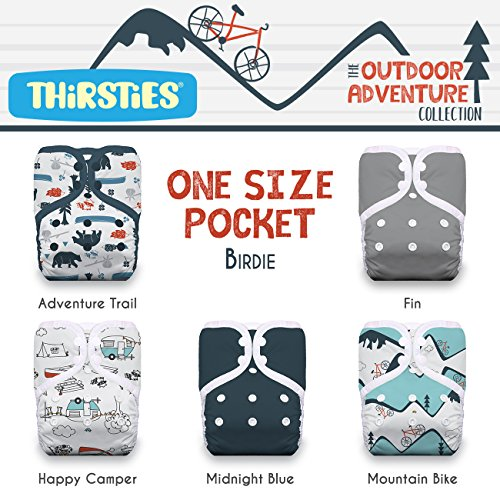 Thirsties Package, One Size Pocket Diaper Snap, Outdoor Adventure Collection Adventure Trail by Thirsties (Image #2)