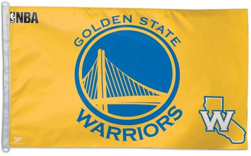 WinCraft NBA Golden State Warriors WCR41814014 Team Flag, 3' x 5' by WinCraft
