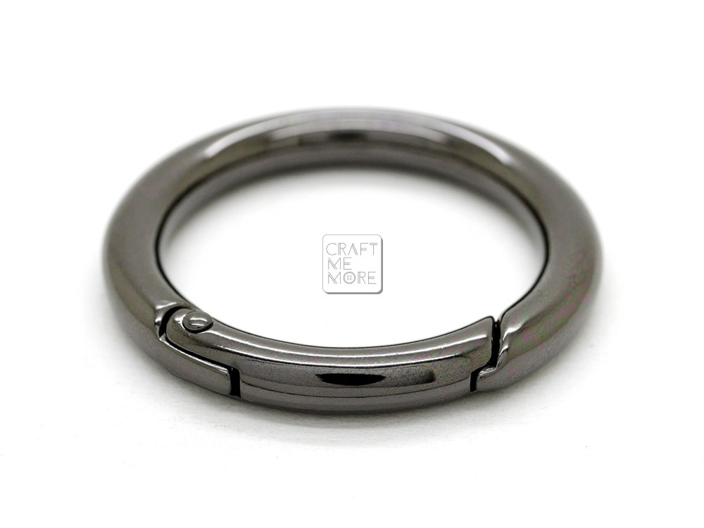 Gunmetal CRAFTMEmore Large O Ring Spring Opening Purse Making Snap Trigger Clip Inside 2 Inches Pack of 2