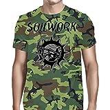 Soilwork Men's Swedish Metal T-shirt Medium Camouflage
