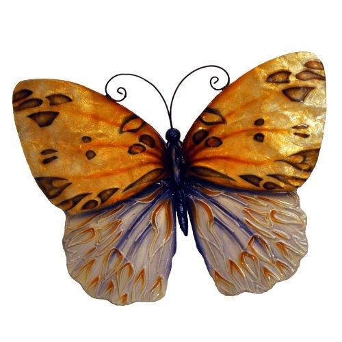 Hand Painted Metal Art (Eangee m712601 Wall Butterfly Honey Metal Art Piece)