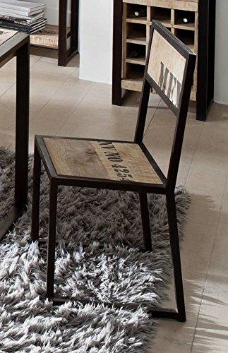 legno di Mango Legno Massello Ferro sedia massiccio stile ...